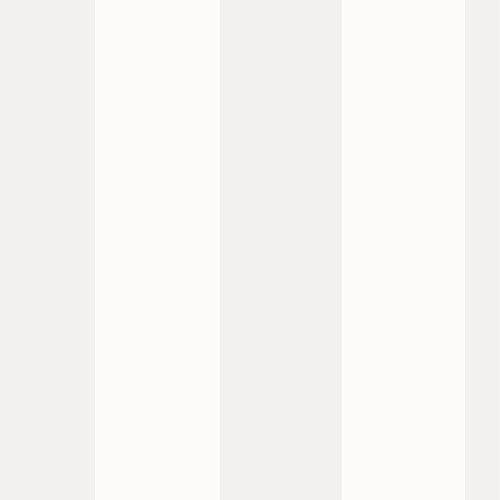 Silber und aus weißen breiten Streifen Tapete 286632 Rasch durch Rasch