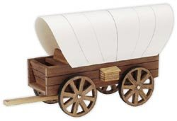 Darice Wood Model Kit Covered Wagon 9181-24 (6-Pack)