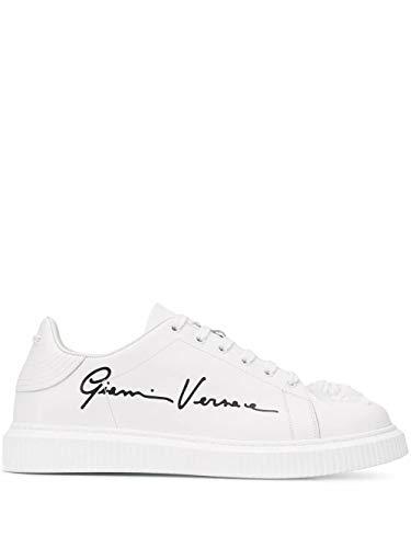 Luxury Fashion | Versace Heren DSU6987DVTGVGD01 Wit Leer Sneakers | Seizoen Permanent