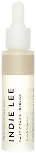 Indie Lee Daily Vitamin Infusion - Balancing Face Treatment Oil with Antioxidants, Rosehip Seed Oil + Moisture-Retaining Squalane - For Sensitive, Dry, Uneven + All Skin Types (1oz / 30ml)