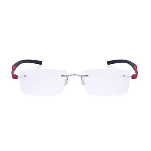 Frameloze leesbril Mode HD-leeftijd Bril Lichtgewicht lezers Ultra Comfort Kwaliteit Anti-blauw-ray Bril (+1.0,+1.5,+2.0,+2.5,+3.0)