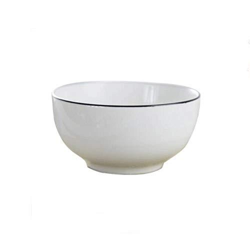 Heigmzw Bol Desayuno Cuenco de cerámica de cerámica blanca Sopa de cerámica especial para horno de microondas para el hogar Vajilla creativa de vajilla de desayuno personalizado solo 15.7 * 6.8cm Tazó