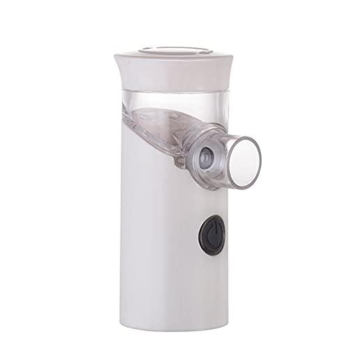 Nebulizador De Nebulizador Silencioso Ultrasónico Portátil USB Mini Nebulizador Médico Recargable For Adultos Y Niños (Color : White)