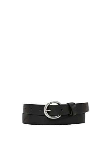 s.Oliver Damen Gürtel aus Vollrind-Leder black 80