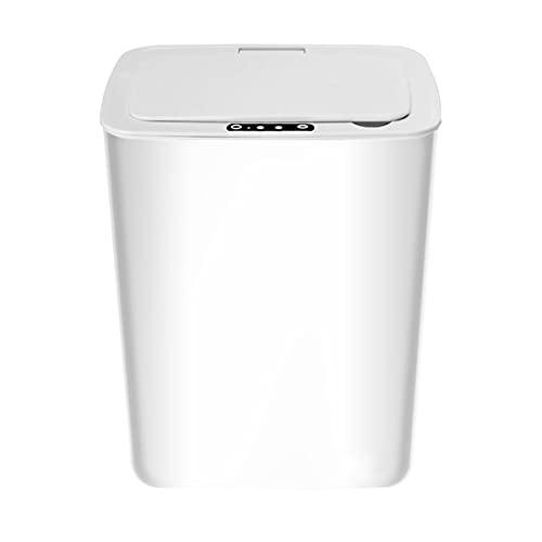 A-myt Inteligente y Compacto Inicio Inteligente Galvanizando Basura Reflexivo Inducción Inteligente Basura Cocina Cocina Baño Multifunción y Varios Tipos. (Color : White, Size : 14L)