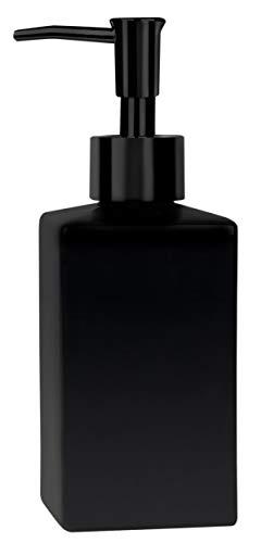 Spirella Seifenspender Quadro Porzellan Flüssigseifen-Spender 300ml matt schwarz