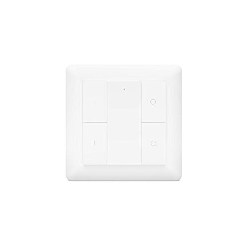 HeatIt, telecomando da parete senza fili Z-Wave, a quattro pulsanti, colore: bianco