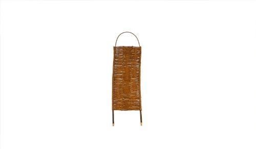 Steck-Paravent Weide mit Steckpfähle im Maß 56 x 130 auf 156 cm (Breite x Höhe) als Sichtschutz geflochten aus Weidenruten/Weide - geölt