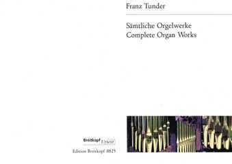 saemtliche Órgano admitidas–Arreglados para órgano [de la fragancia/Alemán] Compositor: TUNDER Franz