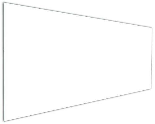 Wallario Küchenrückwand aus Glas, in Premium Qualität, Motiv: Weiß | Spritzschutz | abwischbar | pflegeleicht