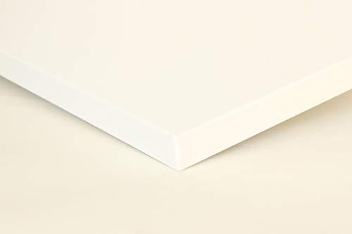 Schreibtischplatte 140x80 aus Holz DIY Schreibtisch direkt vom Hersteller vielseitig einsetzbar - Tischplatte Arbeitsplatte Werkbankplatte mit 125kg Belastbarkeit & Kratzfestigkeit - Topweiß