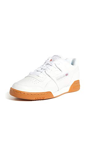 Reebok mens Workout Plus Cross Trainer, White/Carbon/Classic Red, 10.5 US