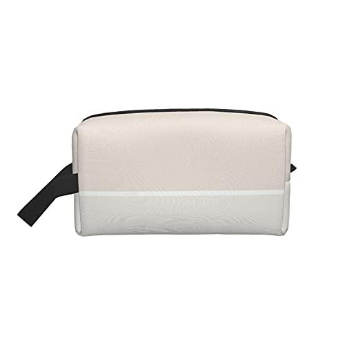 Makeup Bag Fashion Cosmetic Travel Bag Elegant Beige Green Color Harmony...