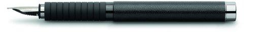 Faber-Castell 148830 - Füllfederhalter Basic Black Leder, Feder M, schwarz