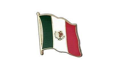 Mexiko Flaggen Pin, mexikanische Fahne 2x2cm, MaxFlags®