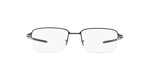 Oakley Men's OX5128 Gauge 3.2 Blade Titanium Square Prescription Eyeglass Frames, Polished Black/Demo Lens, 54 mm