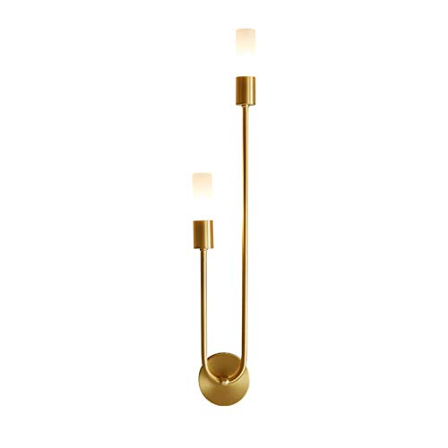Drdcsad Wall lamp Modern Led Wall lamp Nordic Brass Sconce Lights for Bedroom Bedside Reading Corridor Aisle Home Indoor Decoration Lighting (Color Temperature : 220V, Lampshade Color : 9x8x55cm)