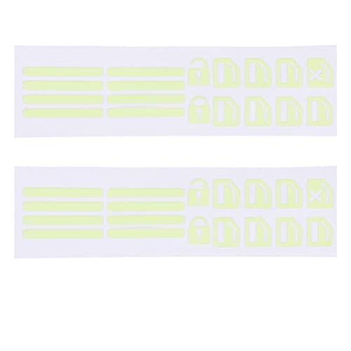 VICASKY 2 Hojas de Interruptor de Control Fluorescente Etiqueta Engomada de La Manija de La Puerta Exterior del Coche