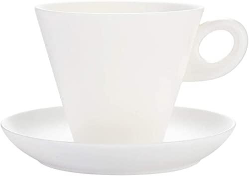 ZSM Taza de café Taza de café y platillo Blanca Taza de cerámica Creativa de la Taza de café de Jade Simple de Jade Muy Adecuado for Las Bebidas de café especializada y Taza de té YMIK
