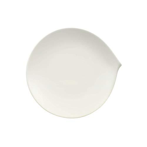 Villeroy & Boch Flow Plato de desayuno, Porcelana Premium, Blanco, 23 x...