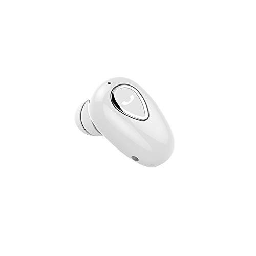 AchidistviQ Auricular Bluetooth individual, mini inalámbrico Bluetooth auriculares deportivos in-ear manos libres estéreo auriculares deportivos a prueba de sudor para deporte blanco