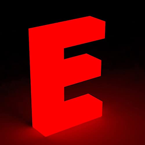 Insegna de casa personalizzata illuminata per porta ingresso numero indirizzo galleggiante LED in acrilico 6 pollici aspetto moderno scala numeri indirizzo casa illuminati prova intemperie luce rossa