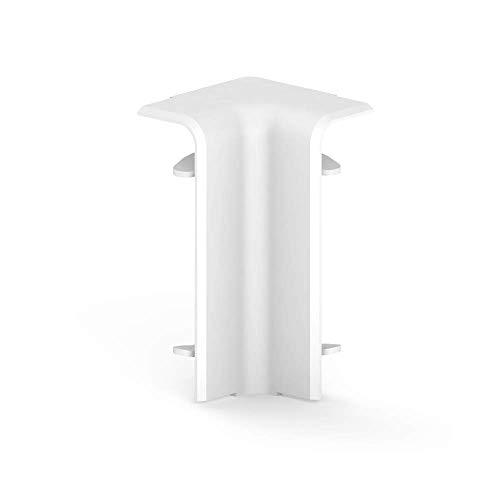 Habengut Innenecke für Sockelleiste 70 mm aus PVC, Farbe: Weiß | Inhalt: 1 Stück - zur Eckumfahrung in Räumen