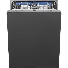 SMEG STL67336L Einbau-Geschirrspüler – 13 Gedecke – 42 dB(A) – 9 l/Zyklus – Energieeffizienzklasse A+++ – Besteckschublade FlexiDuo – Planetarium – Flexifit Scharniere – Inverter Motor