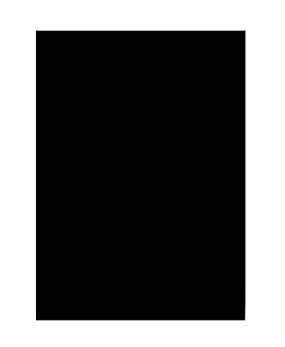 folia 6390 - Tonpapier schwarz, DIN A3, 130 g/qm, 50 Blatt - zum Basteln und kreativen Gestalten von Karten, Fensterbildern und für Scrapbooking
