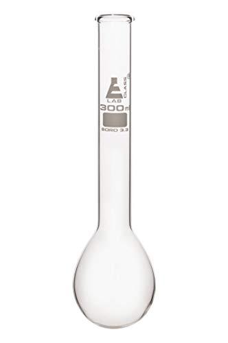 Kjeldahl Flask, 300ml - Borosilicate Glass - Long Neck, Round Bottom - Eisco Labs