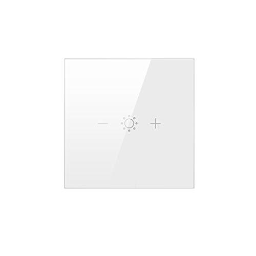 Interruptor de luz inteligente con WiFi, táctil, regulador de intensidad con temporizador, 0 – 100 % ajustable, control mediante aplicación, compatible con Alexa Google Home, necesita conductor neutro