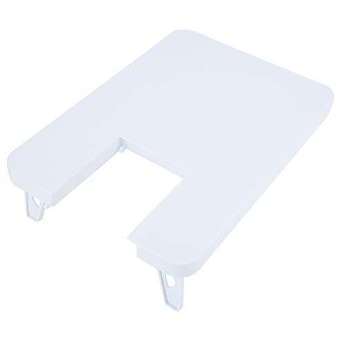 Haofy 35.7 * 25 .5cm/14.06 * 10.04in Mesa de extensión de máquina de Coser Tablero de expansión de plástico ABS para máquina de Coser (Blanco)