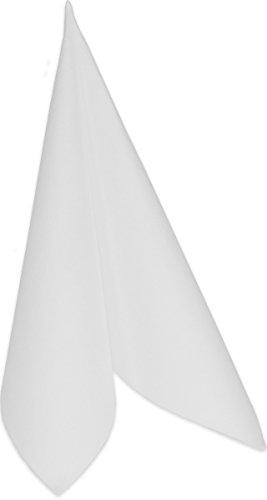 Duni 230308_(1) Dunilin Dinner-Servietten, groß, 40 cm x 40 cm, weiß (50 Stück)