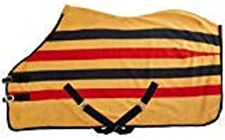 """Cwell Equine FLEECE HORSE RUG cooler stable travel show NEWMARKET STRIPE (6'6"""")"""