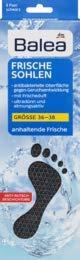 Balea Frischesohlen - schwarz - Größe: 36-38, 8 Paar, 1 x 16 St