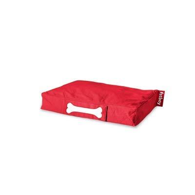 Fatboy® Doggielounge Small Stonewashed Baumwolle | Kleines Hundekissen in Rot | Abwaschbares Hundebett für kleine Hunde | 60 x 80 x 15 cm