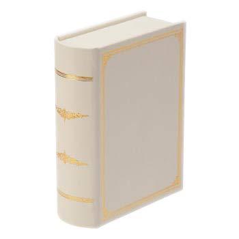 ジュエリーボックス ブック型 辞書型 ジュエリーケース スエード調 ネックレス リング 指輪 ピアス イヤリング アクセサリー 収納 (ホワイト)