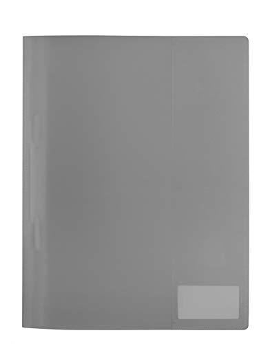 HERMA 19499 Schnellhefter DIN A4 transparent aus abwischbarem und strapazierfähigem Kunststoff mit Beschriftungsetikett, 1 Sichthefter aus PP-Folie, grau