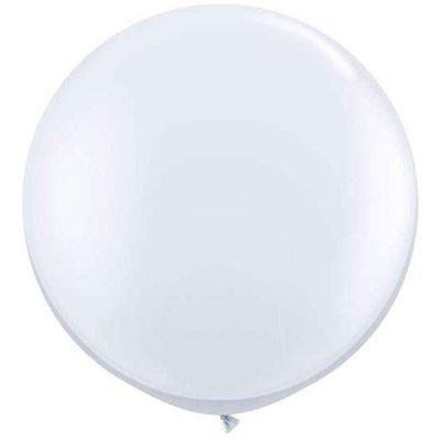 3x Riesenluftballon 55cm Durchmesser mit Spezialverschluss weiß