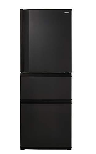 東芝(TOSHIBA) 冷蔵庫(幅60㎝) 326L 【Ag+低温触媒】 【うるおいラップ野菜室】 3ドア 右開き GR-S33SC-KZ マットチャコール