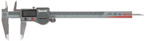 """Starrett 798A-8/200 Digital Caliper, Stainless Steel, Battery Powered, Inch/Metric, 0-8"""" Range, +/-0.001"""" Accuracy, 0.0005"""" Resolution, Meets DIN 862 Specifications"""