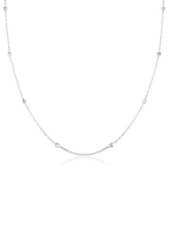 Elli Halskette Elli Damen Halskette Solitär Basic mit Kristallen in 925 Sterling Silber
