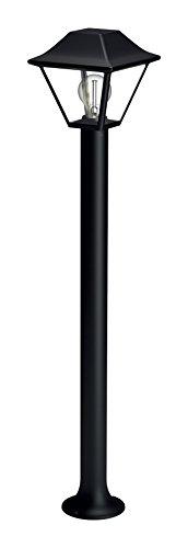 Philips 1649730PN ALPENGLOW Potelet Aluminium/Verre E27 Noir 17,4 x 17,4 x 89,9 cm