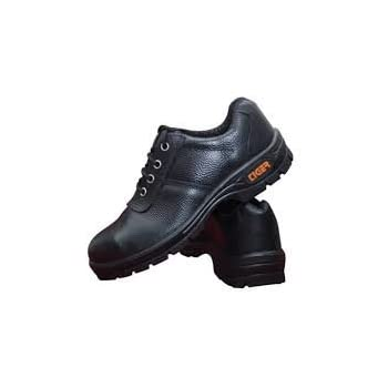 Tiger Men's Low Ankle Lorex Steel Toe Safety Shoes (Size 10 UK, Black, Leather)