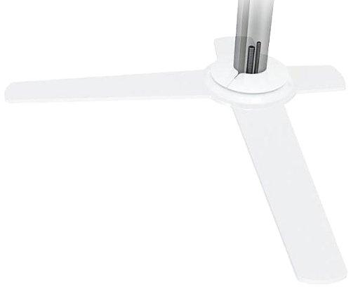Dataflex Viewlite Schreibtisch-Option 010 Fußplatte, Metall, weiß, 44.2 x 24.8 x 0.7 cm