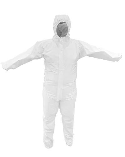 Schutz-Anzug mit Kapuze - Infektionsschutz EN 14126 Overall - Kategorie 3 Typ 5 und 6 - Gr. L