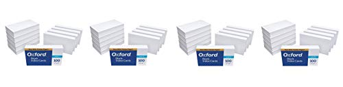 """Oxford Blank Index Cards, 3"""" x 5"""", White, 1,000 Cards (10 Packs of 100) (30) (Fоur Paсk)"""