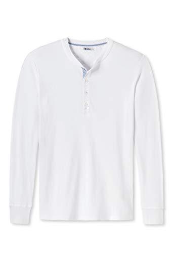 Schiesser Revival Herren Shirt, 1/1 Arm, Langarm Unterhemd, Karl Heinz - Weiß: Größe: M (Gr. Medium)
