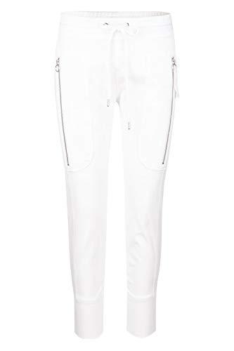 MAC Jeans Damen Future 2.07 Casual Straight Jeans, Weiß (White 010), W32 (Herstellergröße: 32/Ol)