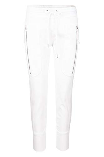 MAC Jeans Damen Future 2.07 Casual Straight Jeans, Weiß (White 010), W42 (Herstellergröße: 42/Ol)